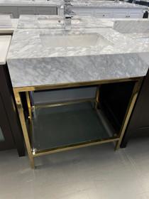 Royal Pina 36 inch Bathroom Vanity Brushed Nickel Frame