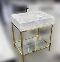 Royal Pina 30 inch Bathroom Vanity Polished Nickel Frame