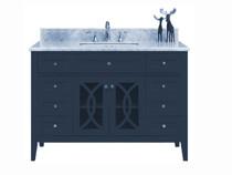 Royal Casa 60 inch Navy Blue Single Sink Bathroom Vanity
