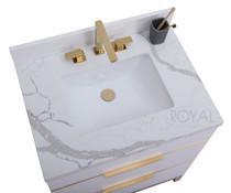 *NOW IN STOCK** Mercer 30 inch White Bathroom Vanity