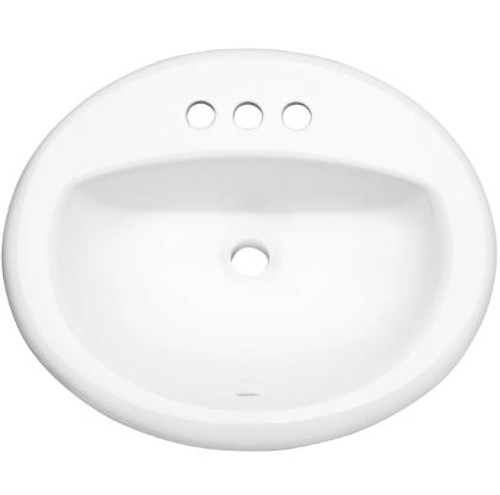 Proflo 20 1 2 Self Rimming Drop In Oval Bathroom Sink 3 Holes Drilled Royal Bath Place