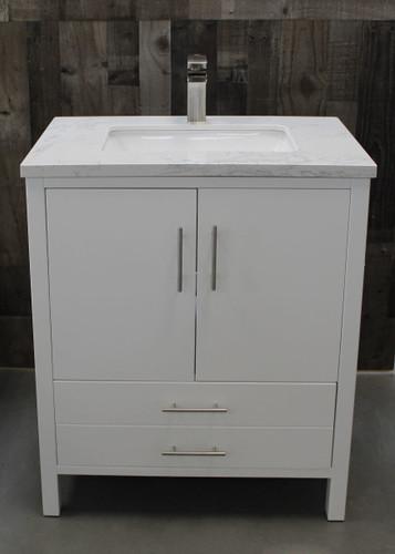 "Ultra 36"" White Bathroom Vanity"