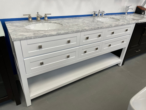 50 Off Marble Top Included Island 72 Inch White Double Sink Bath Room Vanity