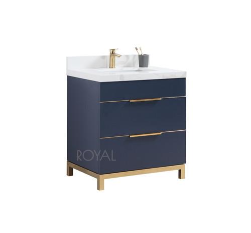 """**NOW IN STOCK** Mercer 30"""" Navy Blue  Bathroom Vanity"""