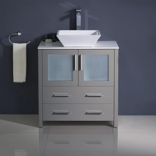 Royal Venice 28 inch Gray Bathroom Vanity