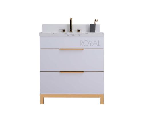 Royal Mercer 30 inch White Bathroom Vanity