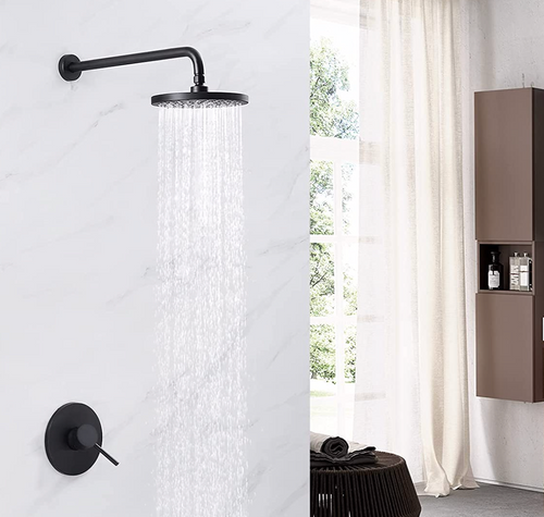 """Royal Midnight Skye 1-Way Shower System with 8"""" Rain head Valve Included"""