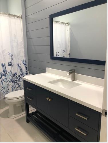 Royal Jupiter 60 Inch Navy Blue Single Sink Bathroom Vanity