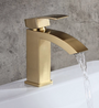 Royal Fall Single Handle Lavatory Faucet in Brushed Gold