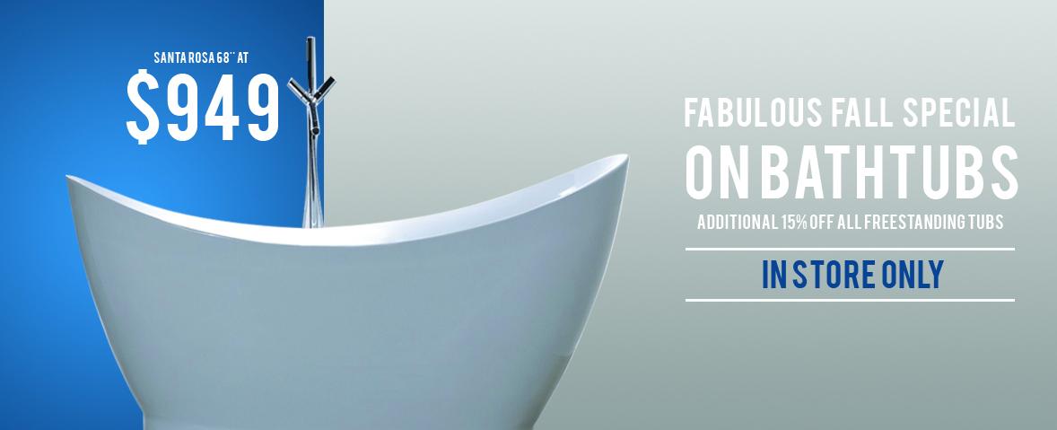 Bathtub Sale Fall