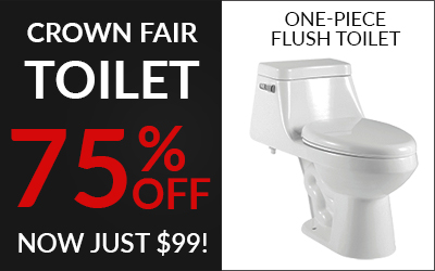 Crown Toilet Black Friday Blowout