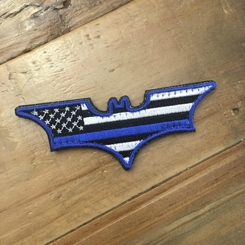 USA Blue Line Bat Patch [VELCRO BACKING]