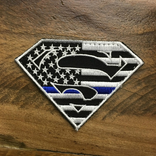USA Blue Line Superman Patch [VELCRO BACKING]