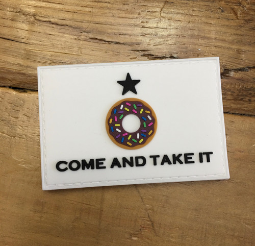 Come and Take it Donut PVC Patch [VELCRO BACKING]