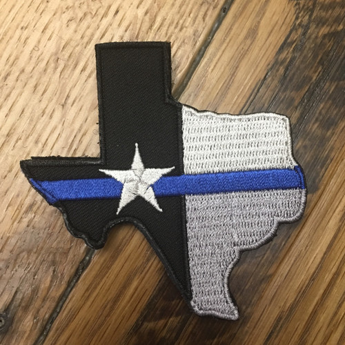 Texas State Blue Line Flag Patch [VELCRO BACKING]