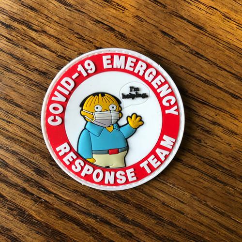 Covid 19 Emergency Response Team PVC Patch