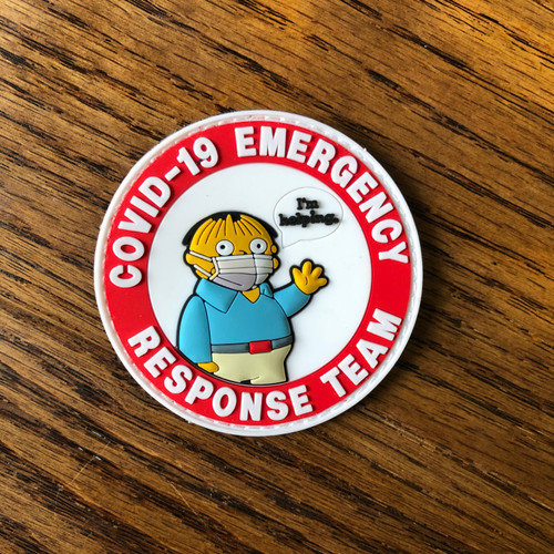Covid 19 Emergency Response Team PVC Patch