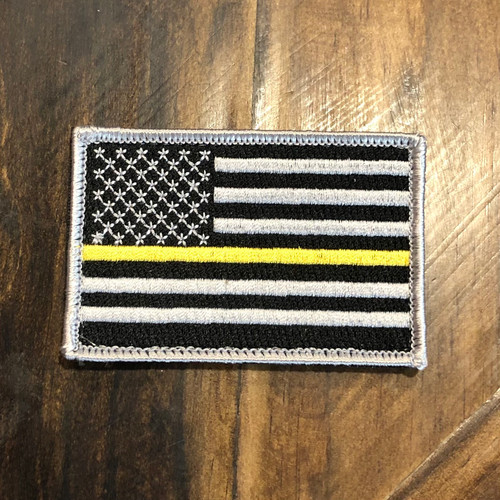 Thin Gold Line Flag Patch [Embroidered]