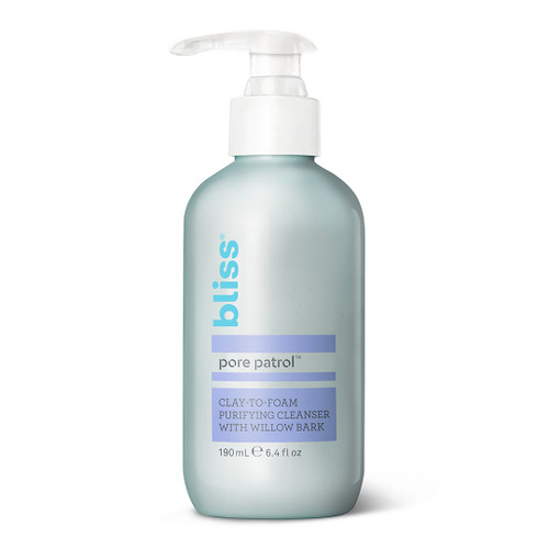 Bliss Pore Patrol Cleanser - Clay-to-Foam Purifying Cleanser