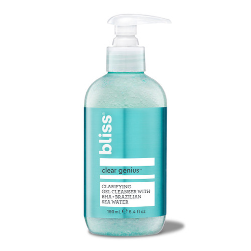 Clear Genius clarifying gel cleanser with bha and brazilian sea water
