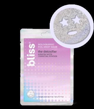 Bliss The Detoxifier Holographic Foil Charcoal Sheet Face Mask