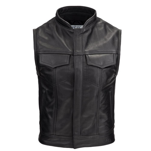 Men's Custom Leather Rebel Vest