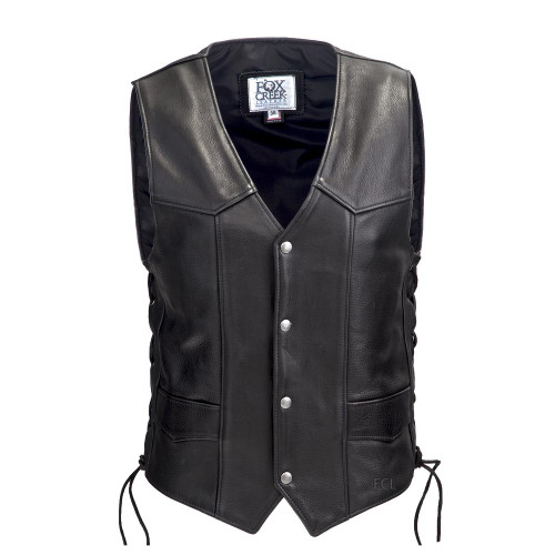 Front view of the Laced Full Back Motorcycle Vest