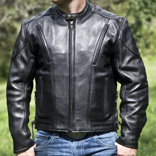 Overstock Vented Racing Jacket -Snap Sides