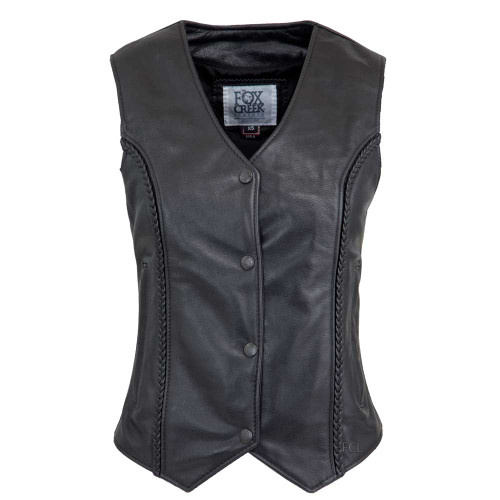 Braided Vest With Zippered Pockets
