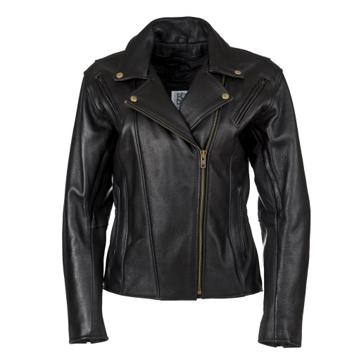 Fitted Classic Motorcycle Jacket