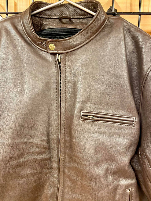Men's Grayson Jacket , Brown Cowhide-Size 50 (Clearance #129)