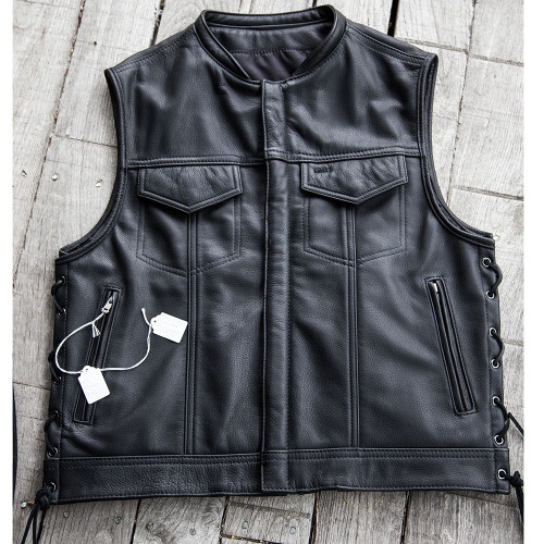 Men's Laced Zippered Rebel Vest, Size 44 - Clearance #135