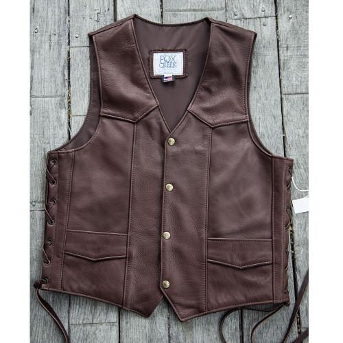 Men's Chocolate Buffalo Classic Vest Size 42 (Clearance 136)