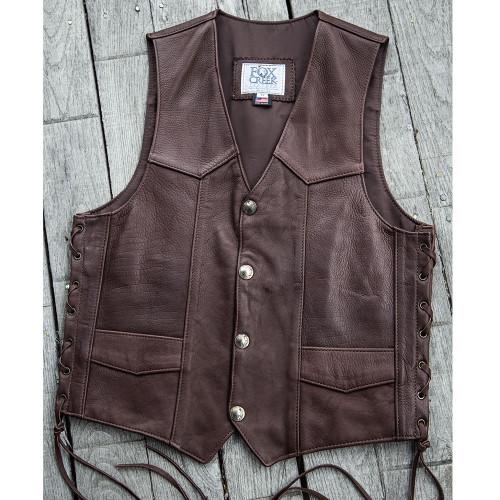 Men's Chocolate Buffalo Classic Vest Size 42 (Clearance 137)