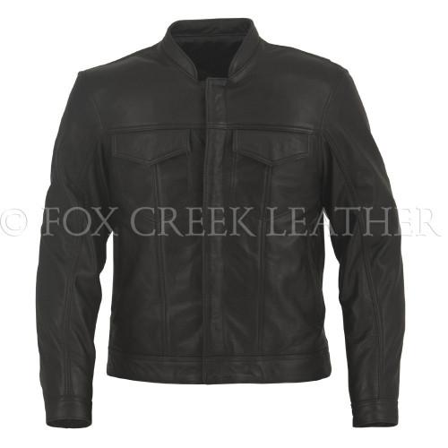 Men's Leather Jean Jacket, Size 40 - Clearance #155