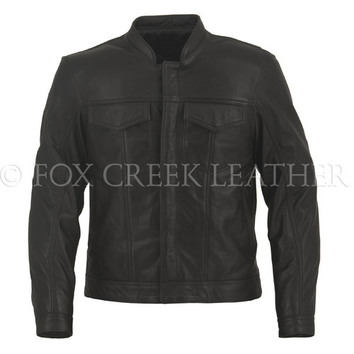 Men's Leather Jean Jacket, Size 58 Long - Clearance #156