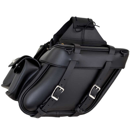 Wide Angle Motorcycle Saddlebags with Yoke