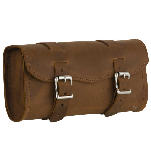 Heavy Duty Distressed Brown Toolbag Front