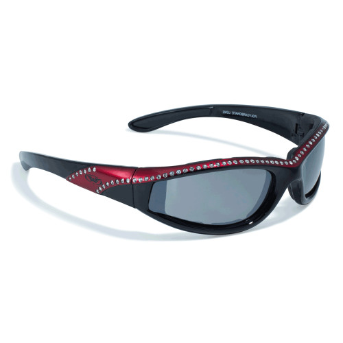 Marilyn Sunglasses with Red frames.