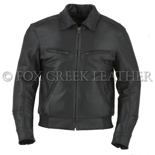 Vented Bomber Motorcycle Jacket
