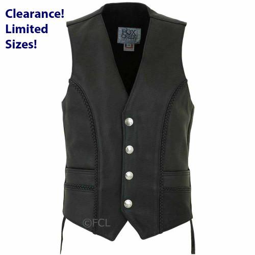 Men's Braided Buffalo Nickel Vest