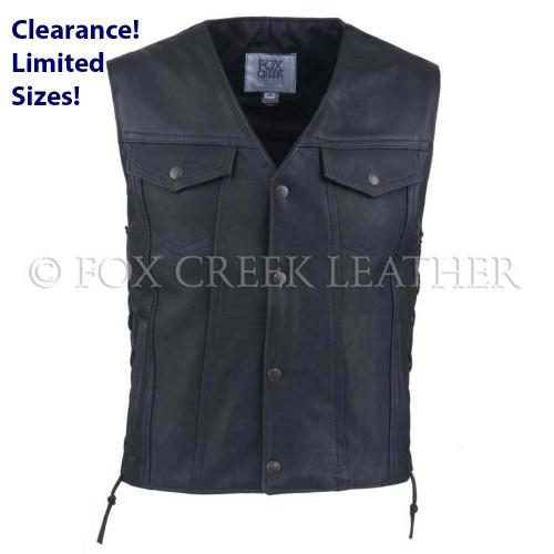 Men's Laced Jean Biker Vest