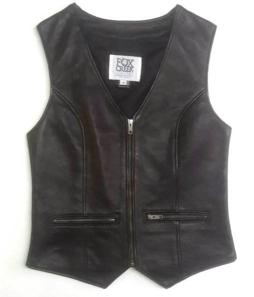 Women's Leather Vest - Size Small (Clearance #19)