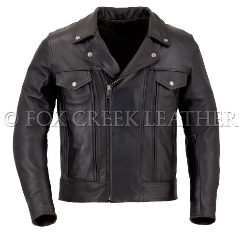 Men's Drifter Leather Motorcycle Jacket
