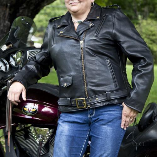 Women's Classic Motorcycle Jacket I