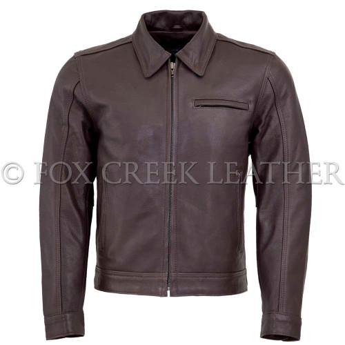 Men's Brown Vintage Leather Jacket