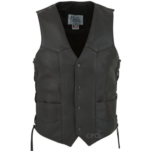 Men's Laced Motorcycle Vest, Size 48 (Clearance #32)