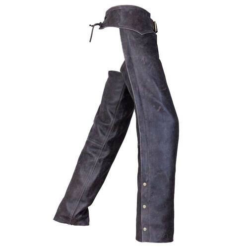Distressed Leather Motorcycle Chaps