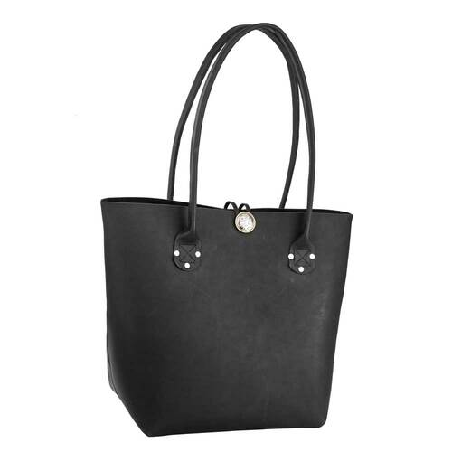 Black Heirloom Tote Bag with Concho