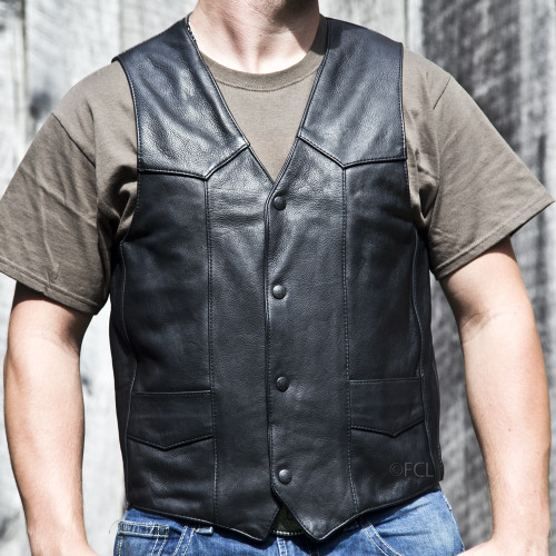 Men's Classic Motorcycle Vest